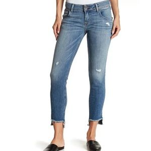 Hudson Cat Step Raw Hem Midrise Skinny Jeans